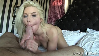 Blowjob with blonde that prefers a thick dick