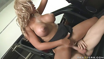 Levi CAsh sitting on cock and her huge tits bounce