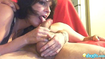 Blowjob with cam couple milf Ritzaa and reverse cowgirl sex