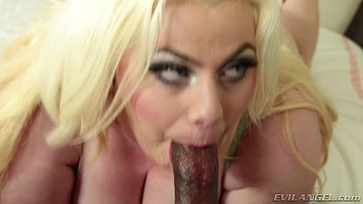 Impressive interracial bbw cock sucking Klaudia Kelly