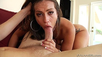 Blowjob with brunette small boobies Kelsi Monroe including anal