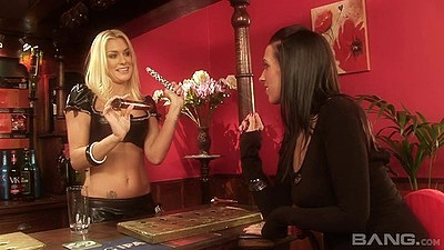 Cate Harrington and Natasha Marley skinny lesbian bitches going down on each other