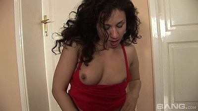 Petite 18 year old sucking her sex toy