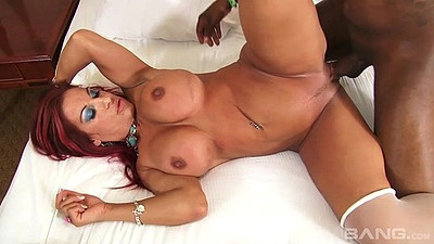 Lecherous big juggs milf Helena Hughes in black cock white milf fuck