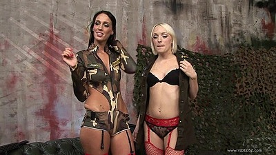 Lecherous bras and panties skanks Tammie Lee and Paige Fox