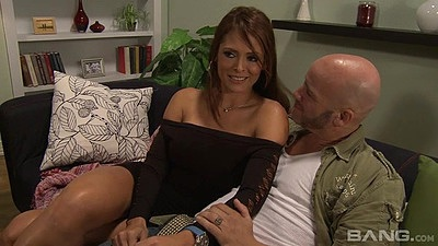 Daring latina milf Monique Fuentes looks pretty and hot