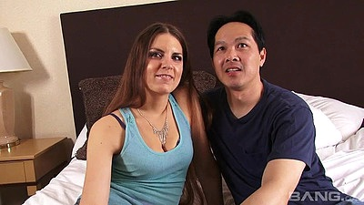 Eager amateur couple Rochelle Ryder making home video