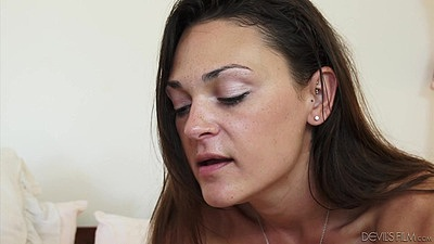 Olivia Wilder sucking dick while having some sex toys to play with