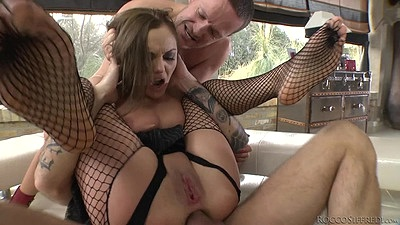 Rough sex reverse cowgirl anal with some other slave action s1