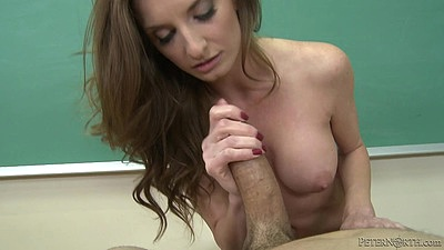 Pov handjob with babe Silvia Saige doing it well