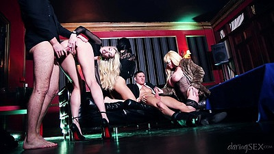 Captivating casino erotica orgy with Jaiden West and Tamara Grace and Jasmine Jae