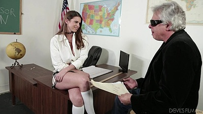 Classroom school girl uniform with old and young Brooklyn Chase