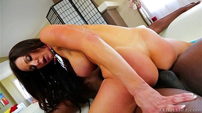 Zealous milf interracial big dick cock mounting Kendra Lust