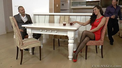 Babe milf fully clothed Martina Gold playing some cards