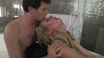 Daring rough sex with blonde and brunette slaves Dahlia Sky and Sarah Shevon