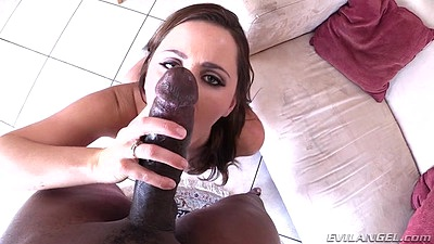 Big black cock in pov blowjob and reverse cowgirl sitting Hope Howell