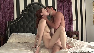 Natural boobs and body gorgeous college redhead bedroom fuck Bree Daniels