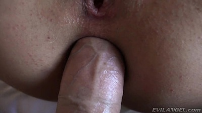 Pov close up anal cock fucking with lovely girl