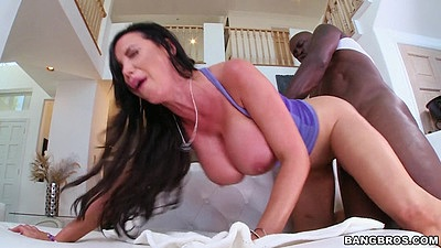 Interracial big boobs milf doggy style and facial cumshot unloading Nikki Benz