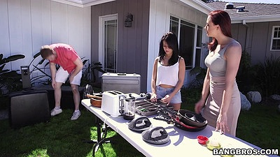 Outdoor picnic and yard sale with Megan Rain and Chanel Preston