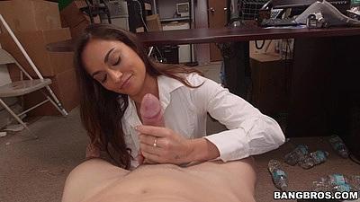 Naughty latina Valentina Vixen pov cfnm blowjob and sucking some balls