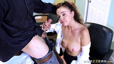 Call center slut has sex in her office Dillion Harper