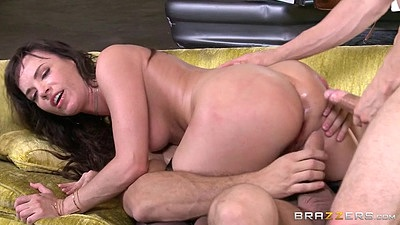 Double penetration stockings whore Dana DeArmond in gang bang