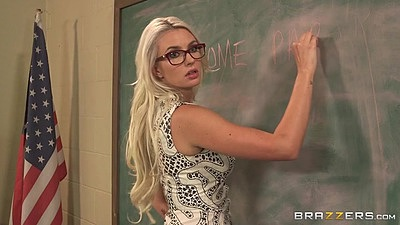 Babe teacher Gigi Allens giving her lesson plan
