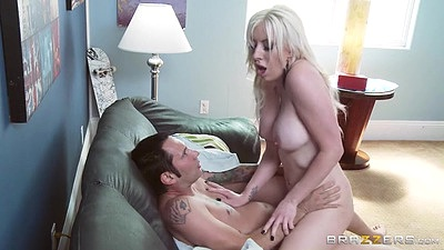 Cowgirl daring pussy fuck with Valerie Fox