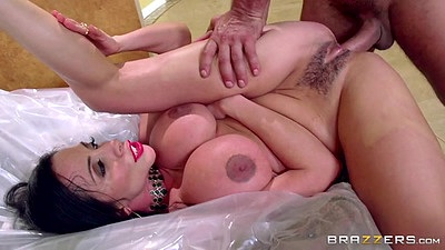 Intimate big boobs latina fuck on plastic Ariella Ferrera