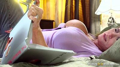 Have her alone time with solo masturbating mom milf Darla Crane