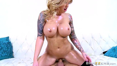 Excited bald pussy slut sits on cock Alexia Vosse