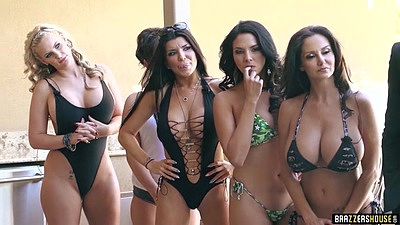 Seductive bikini and lingerie party girls with Ava Addams and Kayla Kayden and Missy Martinez