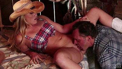 Farm girl screwing around with AJ Applegate