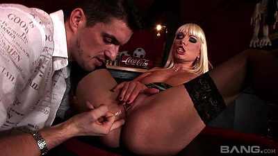 Lena Cova spreading hers for fingering and cock sucking