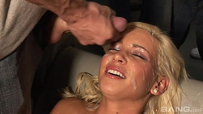 Bukkake facial slut Kacey Jordan looking nice