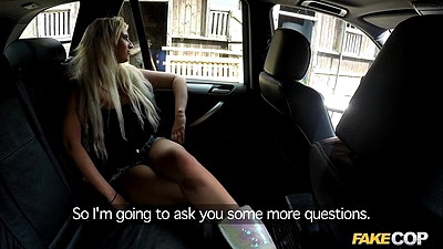 Backseat police car blonde dick sucking Brooklyn