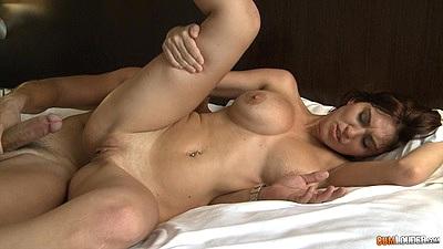 Big boobs slut sideways penetration and reverse cowgirl pussy fuck Valeria Blue