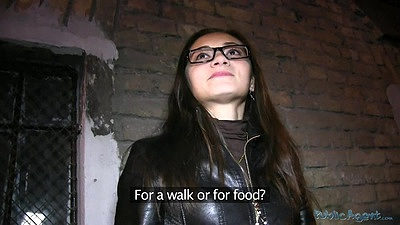 Russian babe was walking the streets and we offered cash for suck
