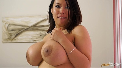 Amazing huge melons asian Tigerr Benson giving horny massage