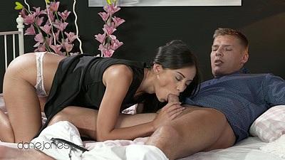 Shrima sucking off Thomas in erotic couples sex
