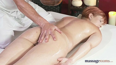 Touching a nice oiled up ass during girl massage