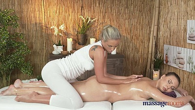 Caitlin and her friend Morgan going for massage