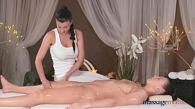 Morgan went for oil massage and got horny with Lucy