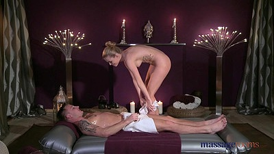 Matt getting Sofia to undress to give him a full fucking during oil massage