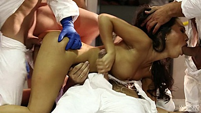 Sex bots invaded and violated Asa Akira in gang bang