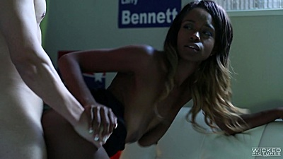 Delicious black babe fucked from the back Jezabel Vessir