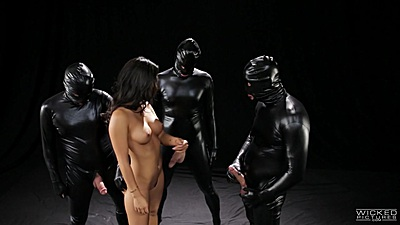 Asa Akira gets gang banged in hell