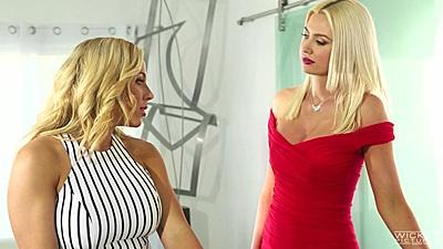 Tasty lesbian milf girls Olivia Austin and Gigi Allens going inside each other