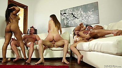 Swingers neighborhood party fuck with Jenna Foxx and Zoey Lane and Carmen Valentina